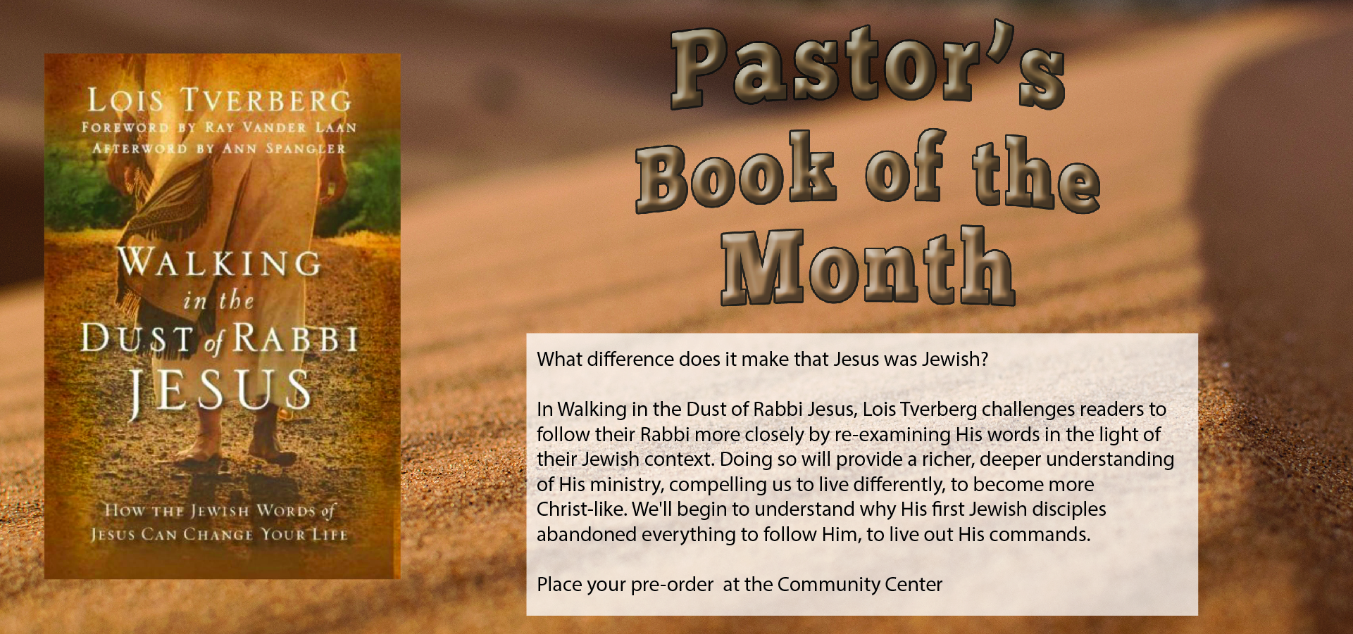 Pastor's Book of the Month